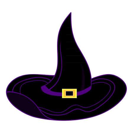 Vector halloween witch hat Vector