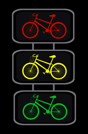 'cycles: Vector traffic lights with cycles Illustration