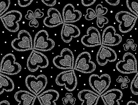 figured: Vector patrick seamless pattern with figured clover leaves Illustration