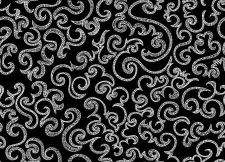 marriage bed: Abstract ornamental vector seamless pattern with curling lines. Endless texture. You can use any color of background. Illustration