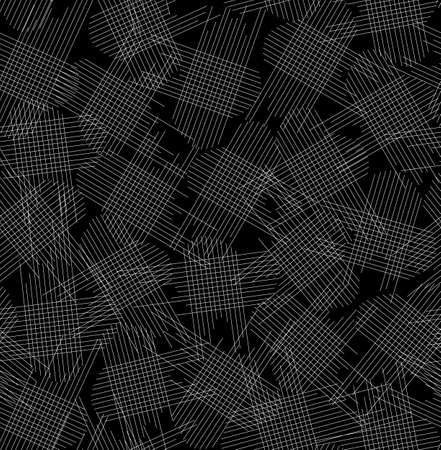 woollen: Abstract vector seamless pattern with textile shreds