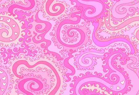 figured: Abstract colorful purple vector seamless pattern with figured ornaments, lines. Endless vector texture