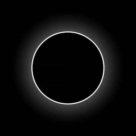 eclipse: Vector full solar eclipse Illustration