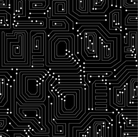 operating system: Circuit board technical vector seamless pattern. Endless texture Illustration