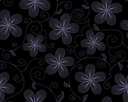 ringlet: Beautiful vector seamless pattern with flowers. Endless decorative texture Illustration