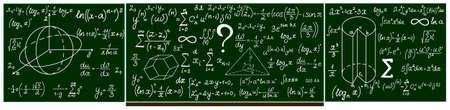 integral: Pizarra de la escuela vector con los c�lculos escritos a mano