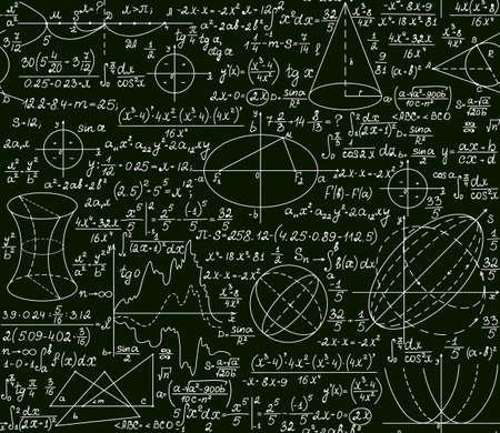 teorema: Matem�tica vector sin patr�n, con parcelas y f�rmulas en un fondo verde