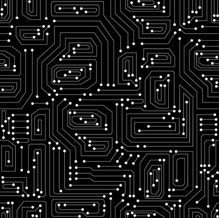 Technical  seamless pattern with circuit board