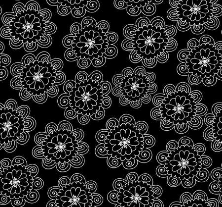 marriage night: Abstract  seamless pattern with ornamental flowers. Endless floral texture. You can use any color of background