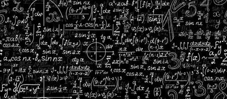 teorema: Matemática vector sin patrón con figuras geométricas, gráficos, fórmulas y cálculos Vectores