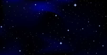 Beautiful vector background with constellations in starry night sky Vectores