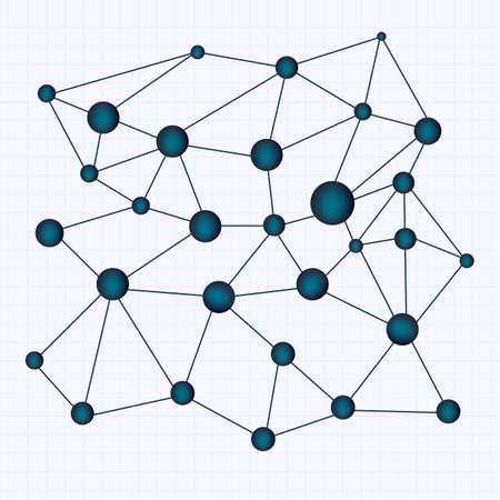 crystallization: Chemistry vector background illustrating crystal lattice