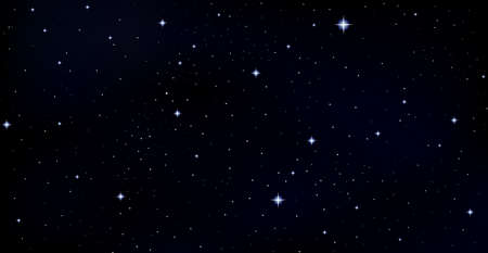 Vector background with stars, constellations, galaxies in outer space Ilustração