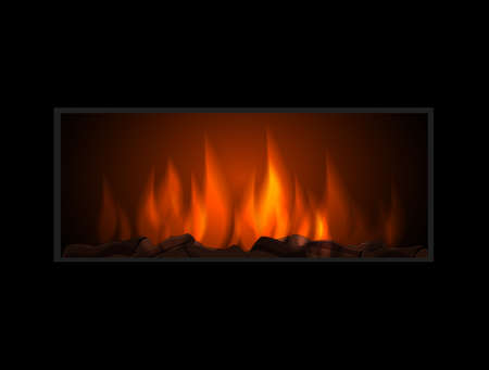 fireplace: Vector fireplace