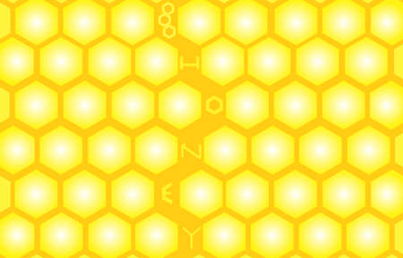 apiculture: Vector honey seamless pattern with yellow honeycombs. Endless texture