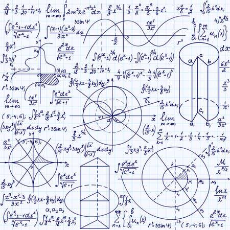 """cardioid: Vector Matemáticas textura transparente con fórmulas, parcelas, algebraica y figuras geométricas y funciones """", escrita a mano en un papel de cuaderno de cuadrícula"""""""