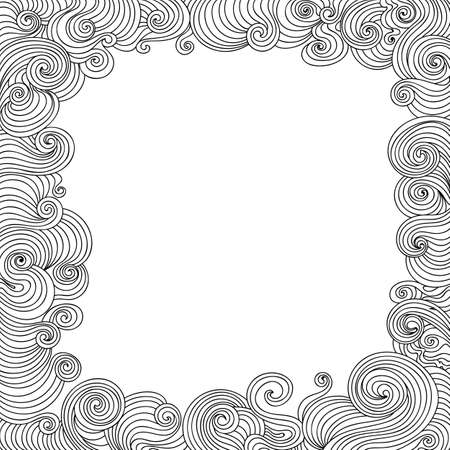 plaiting: Abstract vector decorative frame