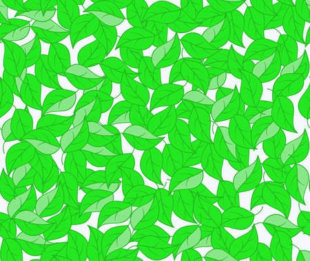spring bed: Spring nature vector endless texture with green leaves. Decorative floral vector seamless pattern. You can use any color of background