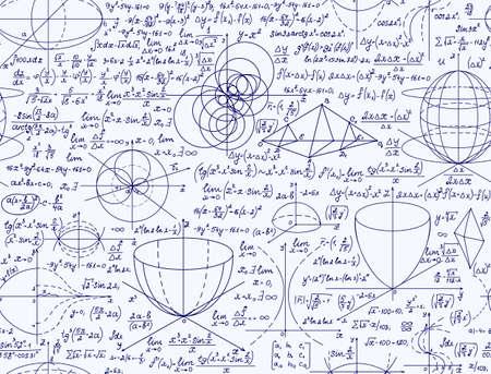 teorema: vector sin patr�n cient�fica con escritos a mano matem�ticas ecuaciones, f�rmulas, gr�ficos, figuras y c�lculos Vectores