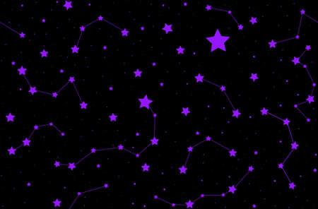 costellazioni: Vector seamless con brillanti stelle e costellazioni. � possibile utilizzare qualsiasi colore di sfondo
