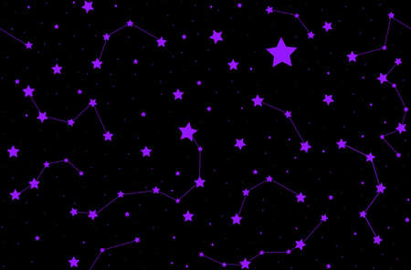 ursa: Vector seamless pattern with shining stars and constellations. You can use any color of background Illustration