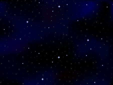 Vector cosmic background with stars and constellations in outer space. Starry night sky