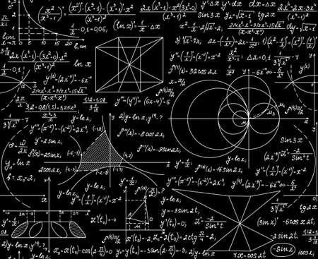 teorema: Vector matem�tico sin patr�n, con parcelas, f�rmulas, figuras geom�tricas y c�lculos. Usted puede usar cualquier color de fondo Vectores
