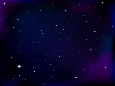 cielo estrellado: cósmica de fondo vector con las estrellas y constelaciones en el espacio exterior. Noche cielo estrellado de fondo vector