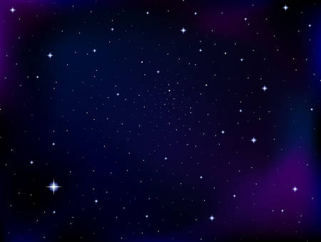 Vector cosmic background with stars and constellations in outer space. Night starry sky vector background 向量圖像