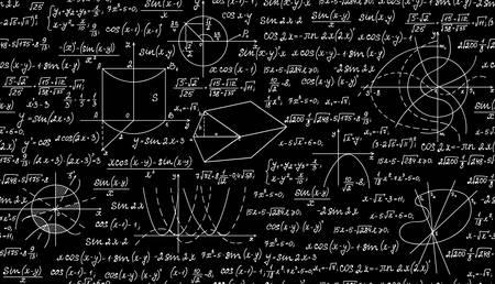 teorema: Matem�tica vector sin patr�n con parcelas geom�tricas, f�rmulas y c�lculos. Textura sin fin. Usted puede usar cualquier color de fondo