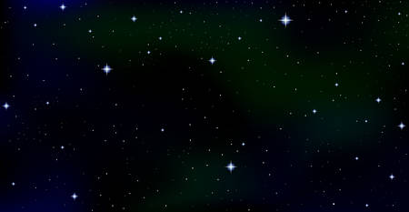 night sky stars: Cosmic vector starry background with constellations and stars in outer space. Night starry sky, Aurora Borealis vector background Illustration