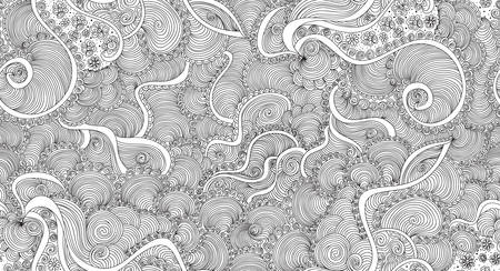 Abstract vector nahtlose Muster mit wellenförmigen Linien Standard-Bild - 66436910