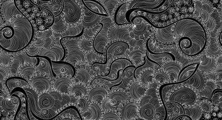 Abstract vector nahtlose Muster mit Curling welligen Linien gemustert und dekorativen Ornamenten Standard-Bild - 66438073