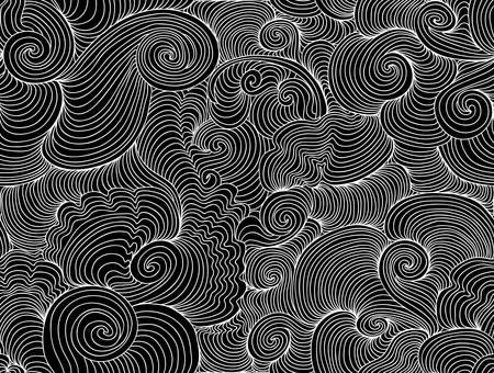 Dekoratives nahtloses Muster des schönen abstrakten Vektors mit wellenartig bewegenden Linien des Windens Standard-Bild - 66438074