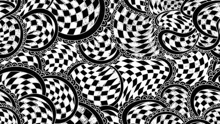 Abstrakt Schach Vektor nahtlose Muster Standard-Bild - 66435807
