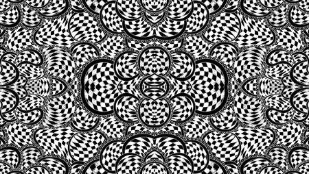 Abstract seamless pattern with chess ornament