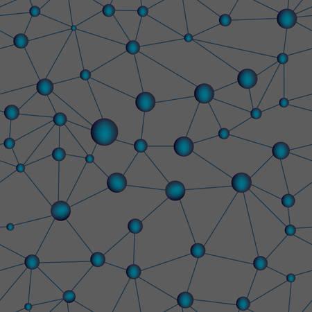 Wissenschaftliche Vektor nahtlose Muster mit chemischen molekularen Kombinationen Standard-Bild - 66457655