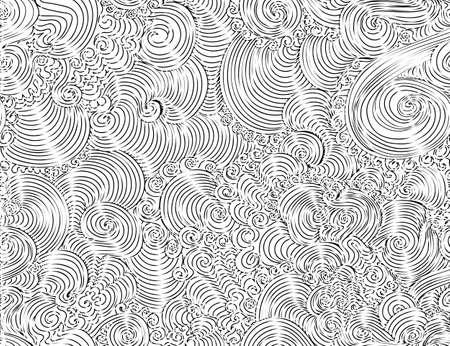 """Zusammenfassung schöne Vektor nahtlose Muster mit dekorativen Ornamenten Curling, Linien, kritzelt, """"Hand gezeichnet mit Kreide"""" -Effekt Standard-Bild - 66458753"""