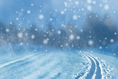 Winter background of snow and the frost with free space for your decoration. Christmas background.