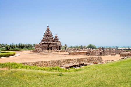 Shore temple at Mahabalipuram, Tamil Nadu, India. A UNESCO world heritage site