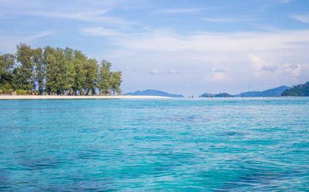 Clear blue sea at Lipe Island Stock Photo