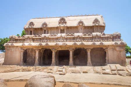 Bhima Ratha, Five rathas monument, Mahabalipuram, Tamil Nadu, India