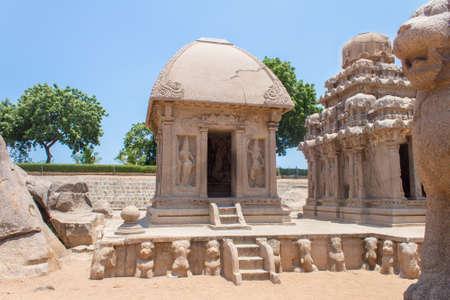 Draupadis Ratha, Five rathas monument, Mahabalipuram, Tamil Nadu, India Stock Photo