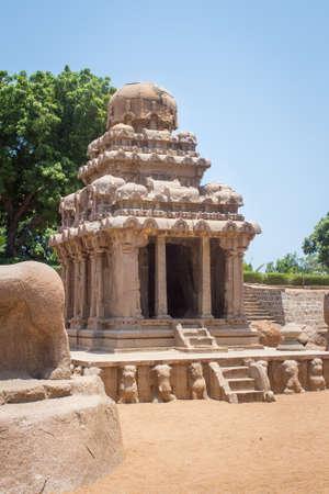 Arjuna Ratha, Five rathas monument, Mahabalipuram, Tamil Nadu, India