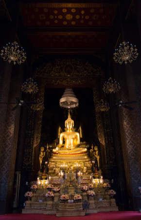 Buddha at Wat Bowonniwet Vihara temple, Bangkok, Thailand Editorial