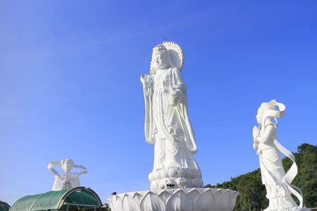 white guan yin statue in Hat Yai, Songkhla, Thailand