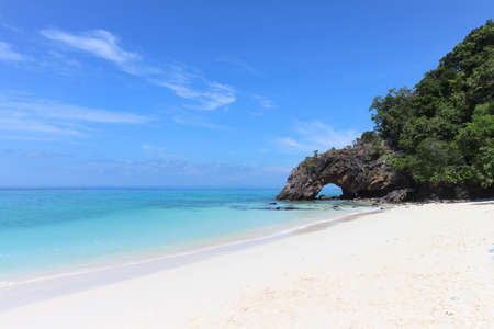 Stone arch on Khai Island near Lipe island, Satun Province, Thailand Stock Photo