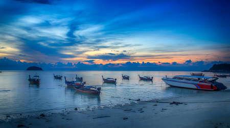 Sunrise at Sunrise beach on Lipe Island, Satun Province, Thailand Stock Photo
