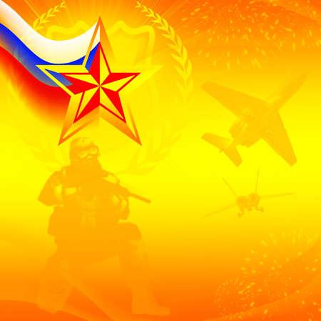 estrellas cinco puntas: Postal para el Día del Defensor de la Patria
