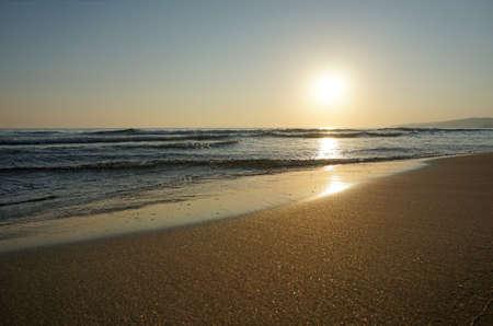 seascape sunset on the Black Sea, Russia Stock Photo